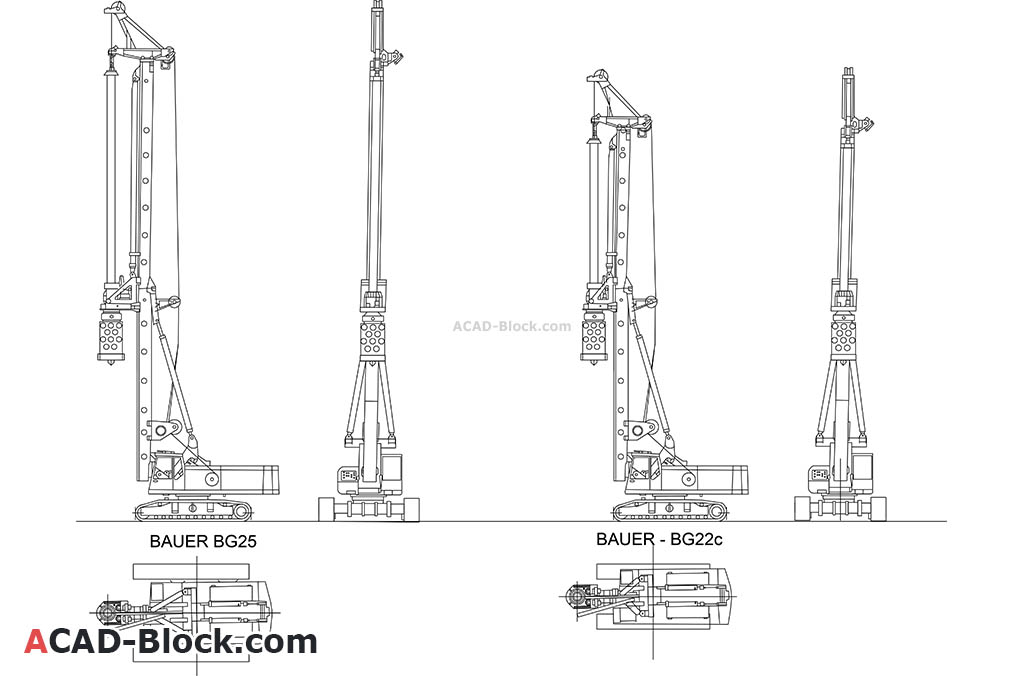 Rotary Drilling Rig dwg in Autocad