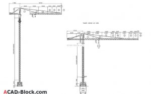 Tower Crane CAD blocks in AutoCAD