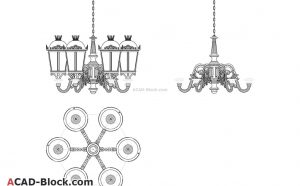 Chandelier CAD blocks in AutoCAD